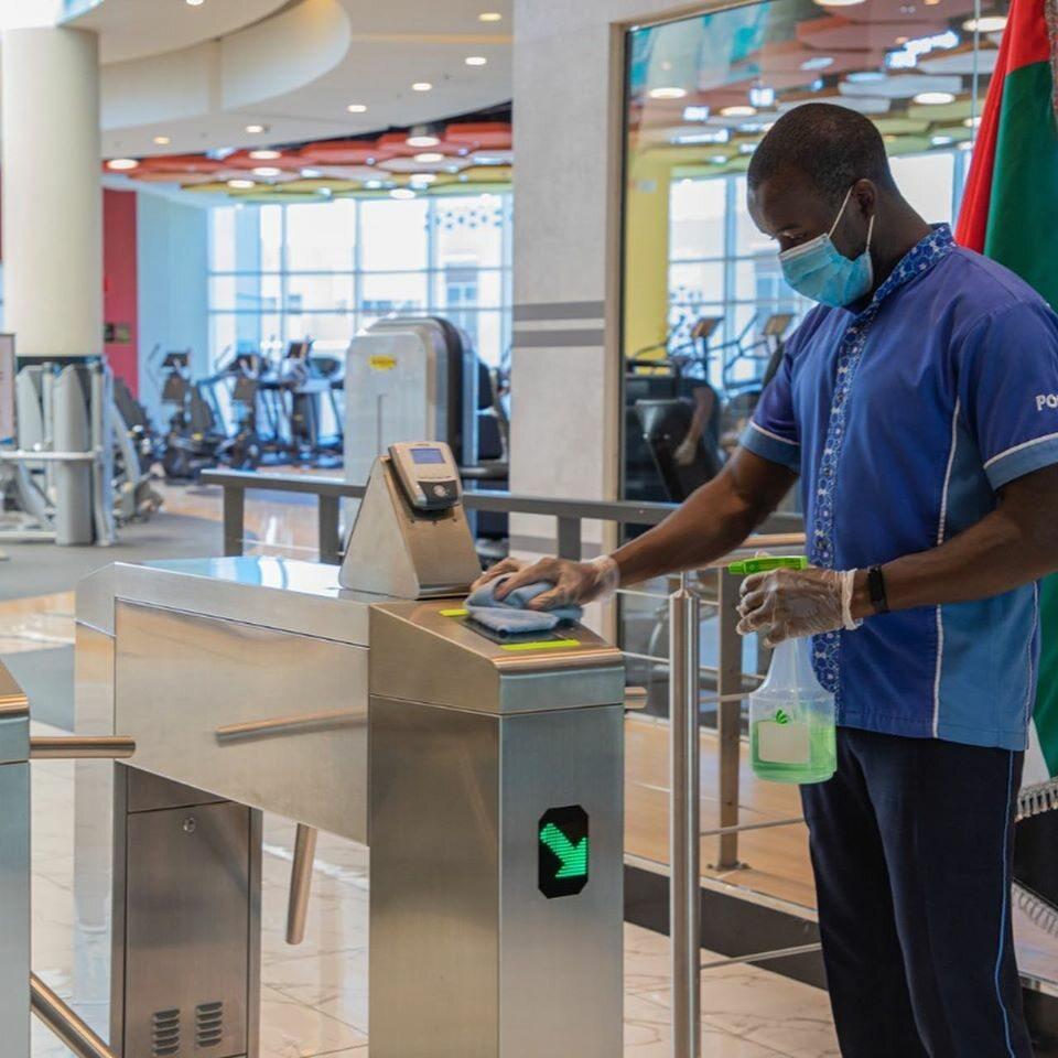 Siłownia Gold's Gym w Zjednoczonych Emiratach Arabskich