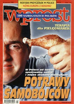Okładka tygodnika Wprost nr 25/1999 (864)