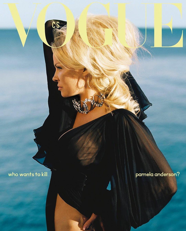 "Pamela Anderson w ""Vogue Czechoslovakia"""