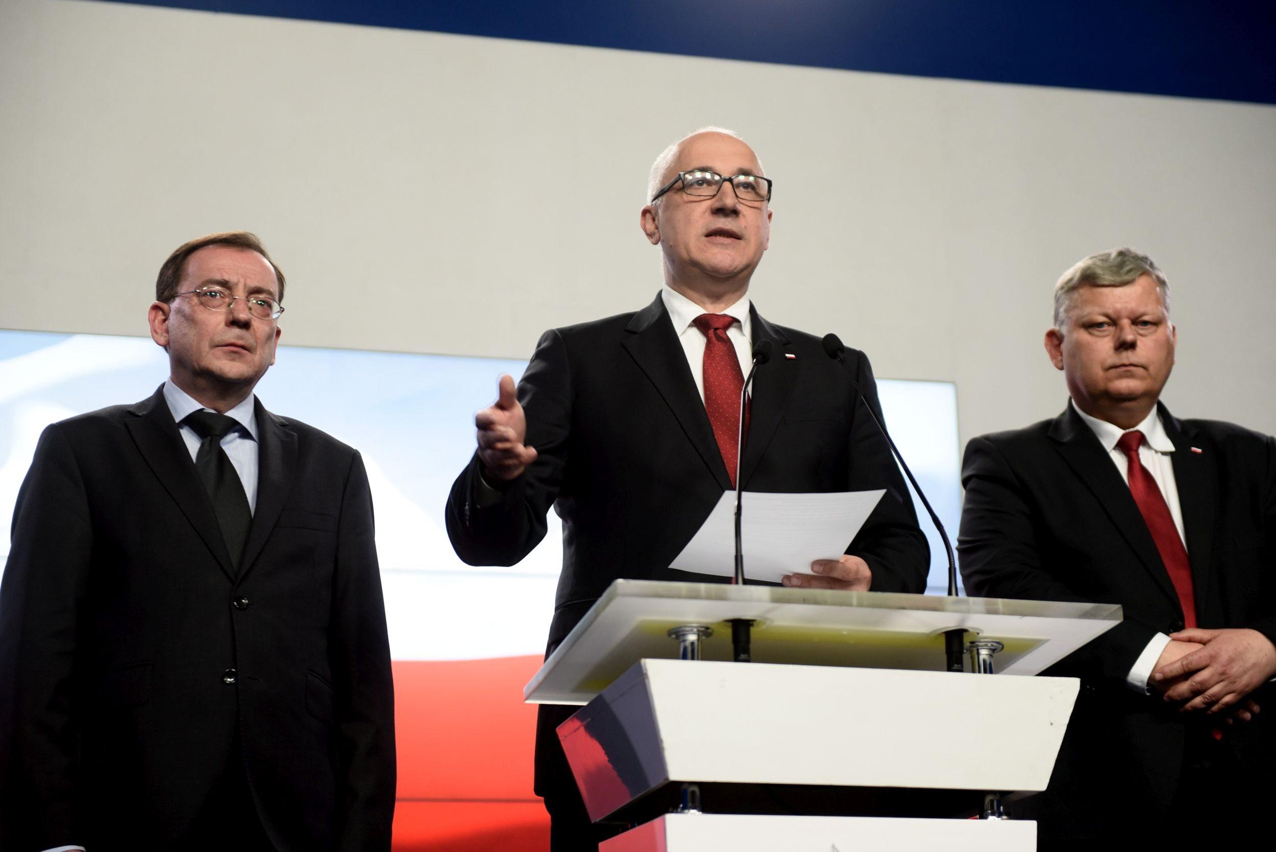 Mariusz Kamiński, Joachim Brudziński i Marek Suski