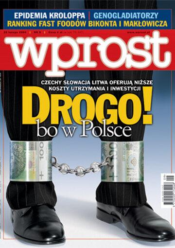 Okładka tygodnika Wprost nr 9/2004 (1109)