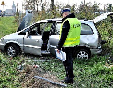 Opel Zafira z 10 pasażerami wypadł z drogi. Kierowca nie miał prawa jazdy