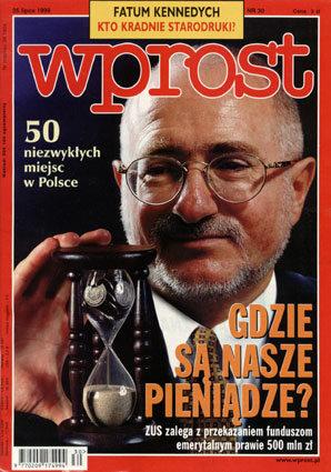 Okładka tygodnika Wprost nr 30/1999 (869)