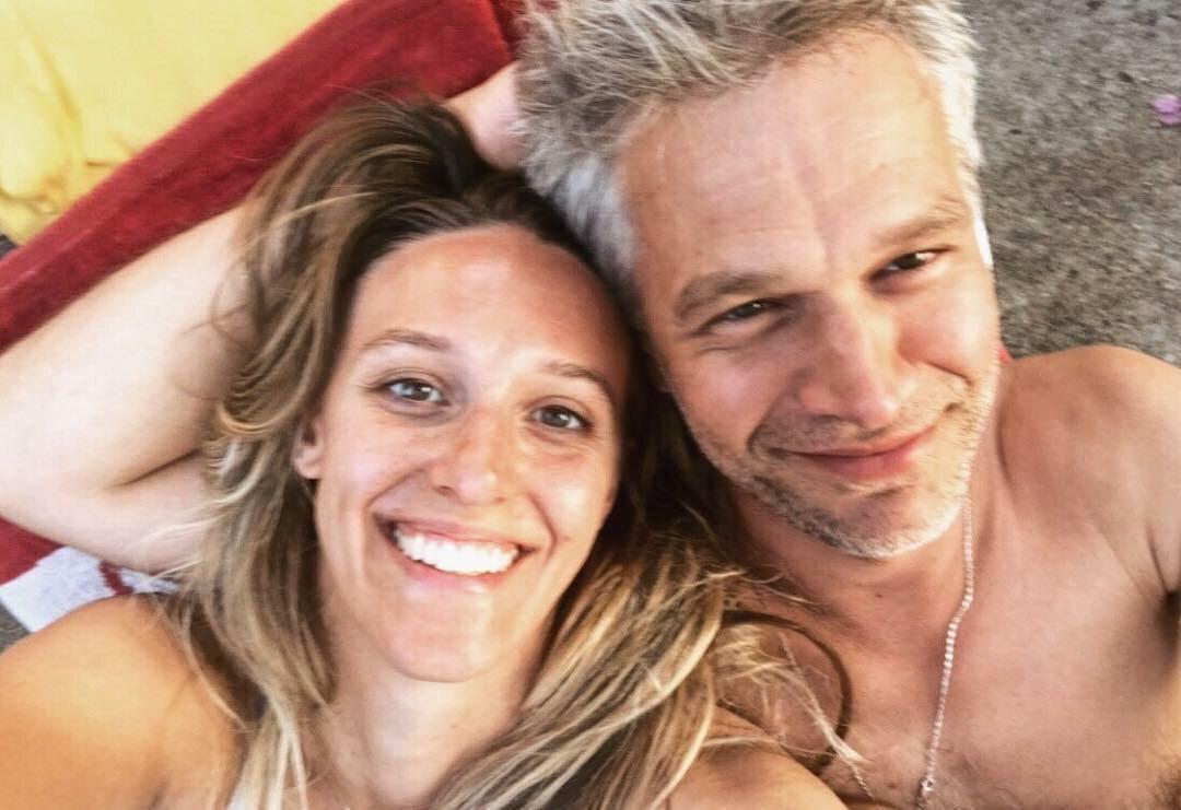 Michał Żebrowski z żoną Aleksandrą