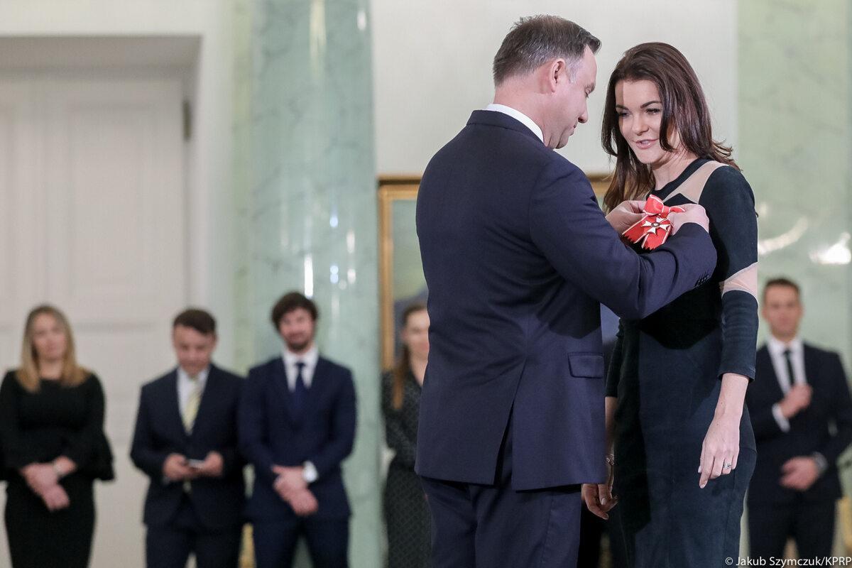 Prezydent odznaczył Agnieszkę Radwańską