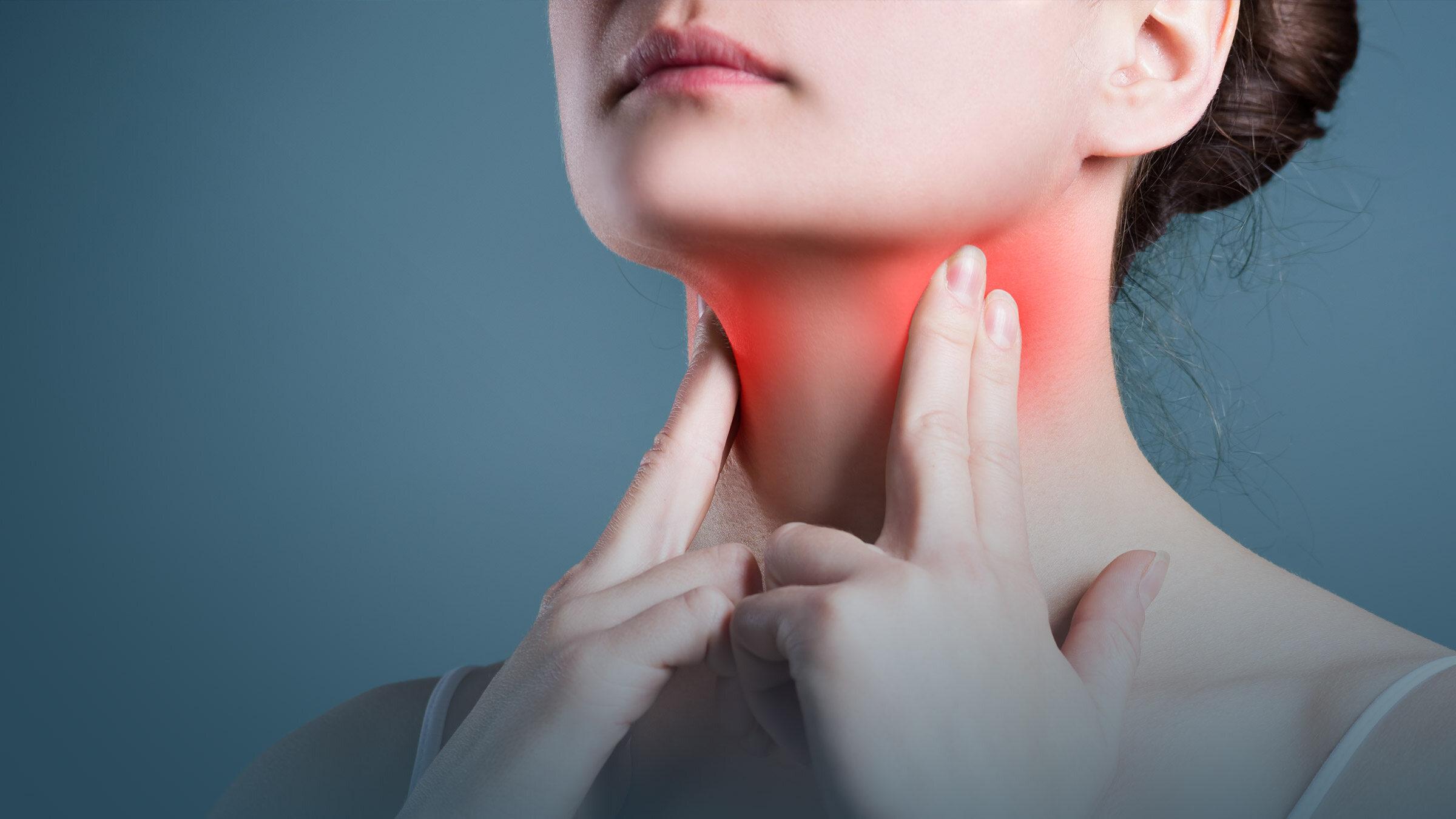 Ból gardła - ilustracja