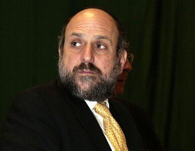 Naczelny rabin Polski grozi odejściem ze stanowiska
