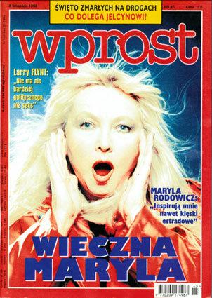 Okładka tygodnika Wprost nr 45/1998 (832)