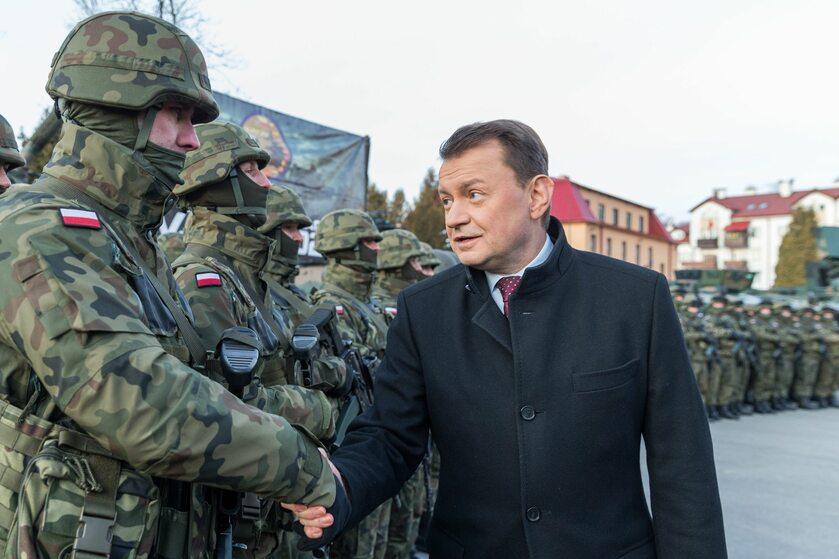 Odprawa z szefa MON  z okazji przejęcia dyżuru Sił  Odpowiedzi  NATO przez 21. Brygadę Strzelców Podhalańskich