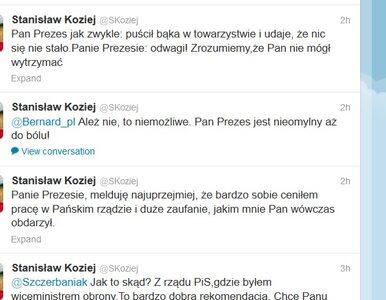 Gen. Koziej: Pan Prezes jak zwykle: puścił bąka w towarzystwie i udaje,...