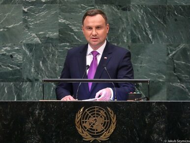 """Duda na sesji ONZ o """"siłowej zmianie granic"""" w Europie Wschodniej...."""