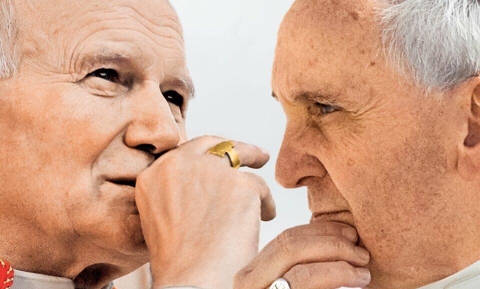 Jan Paweł II i Franciszek (fotografia ilustracyjna)
