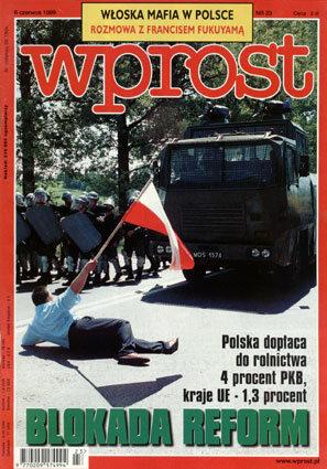 Okładka tygodnika Wprost nr 23/1999 (862)