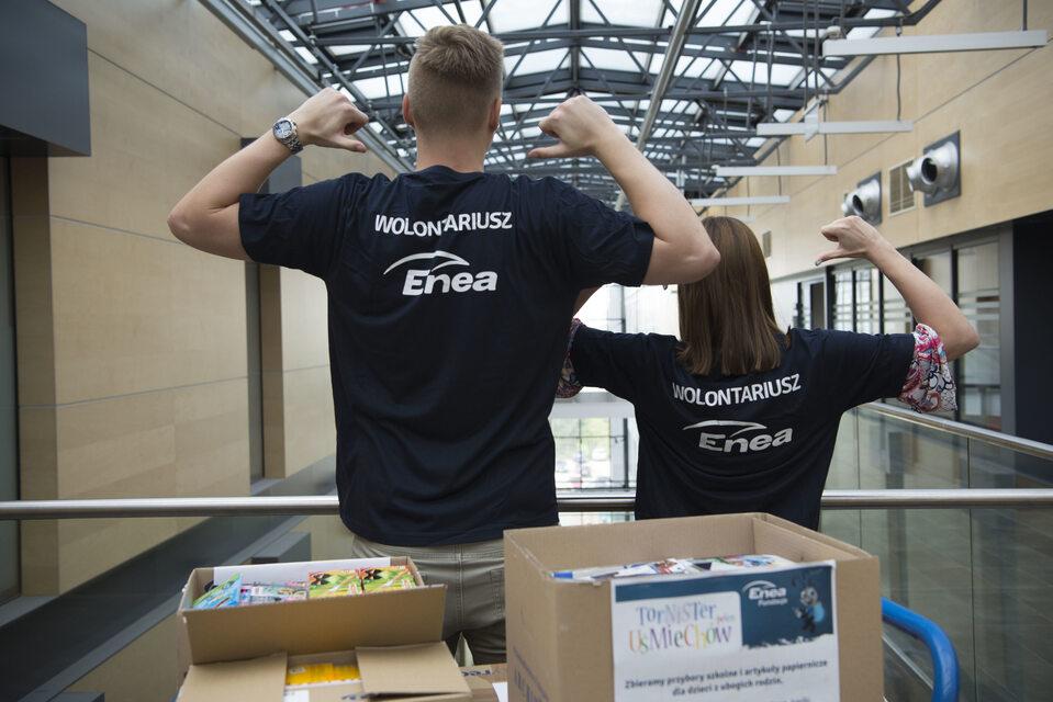 Wolontariusze z Enei działają przede wszystkim na rzecz społeczności lokalnych