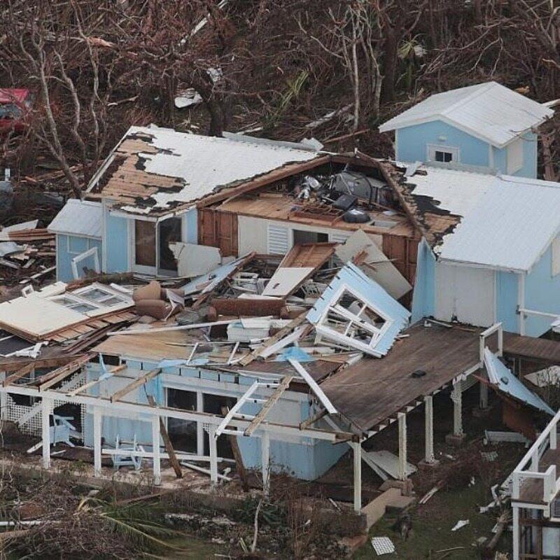 Zniszczenia po huraganie Dorian
