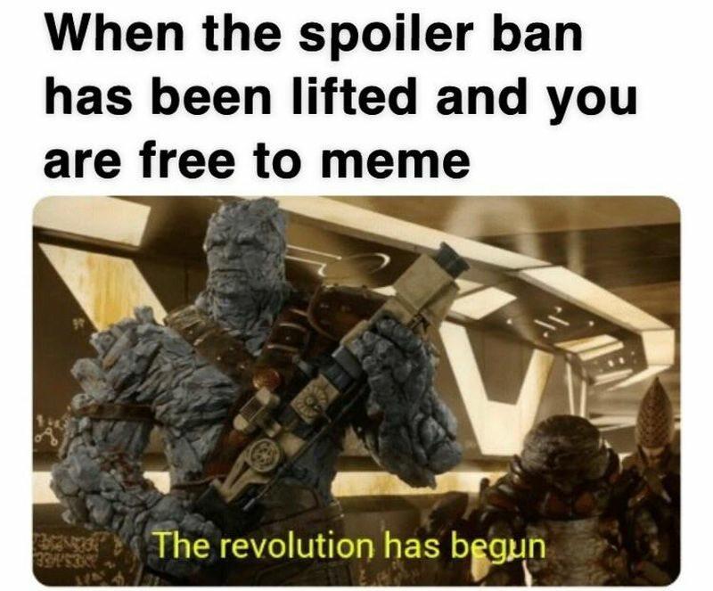 Kiedy zniesiono zakaz na spoilery i możesz wreszcie robić memy