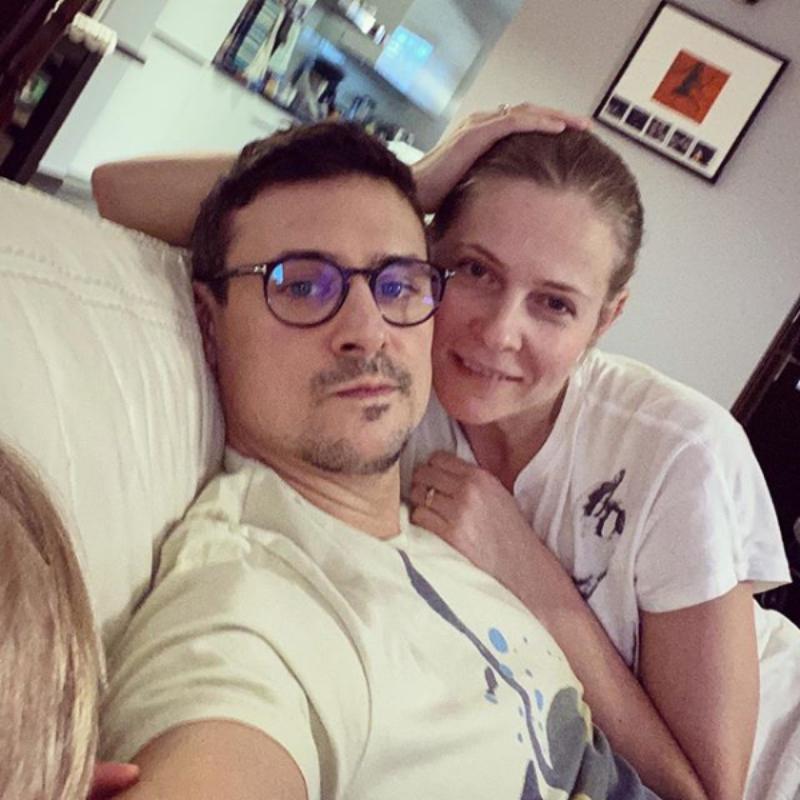 Mateusz Damięcki z żoną Pauliną