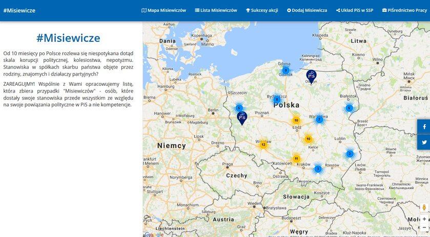 Strona internetowa misiewicze.pl