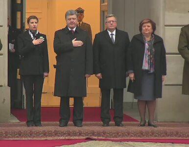 Poroszenko rozpoczął wizytę w Polsce od spotkania z Komorowskim