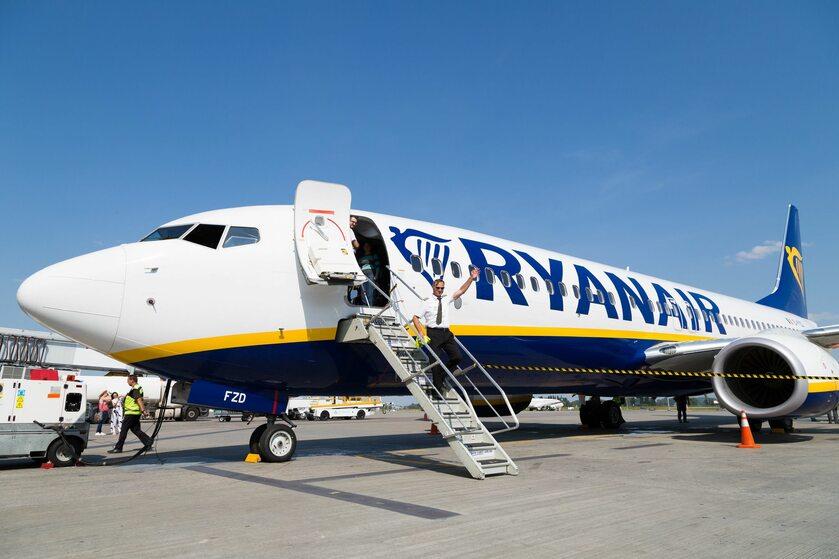 Samolot linii lotniczych Ryanair