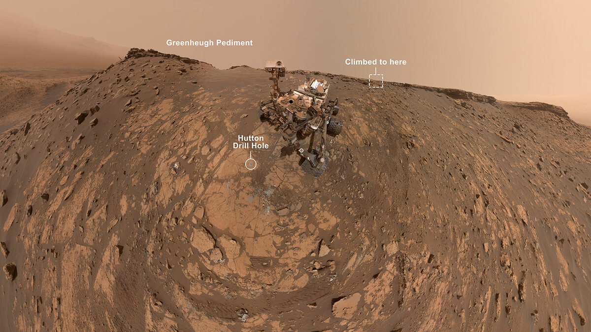 Nowe selfie łazika Curiosity