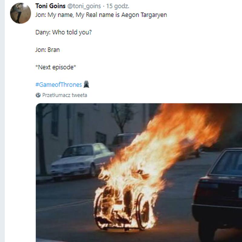 Czy tak skończy Bran po wyznaniu Jonowi, że jego prawdziwe imię to Aegon Targaryen?