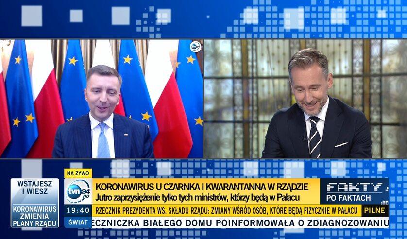 "Program ""Fakt po faktach"". Piotr Kraśko i Łukasz Schreiber"