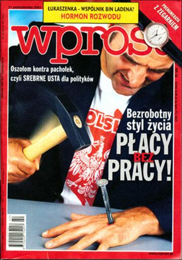 Okładka tygodnika Wprost nr 42/2001 (986)