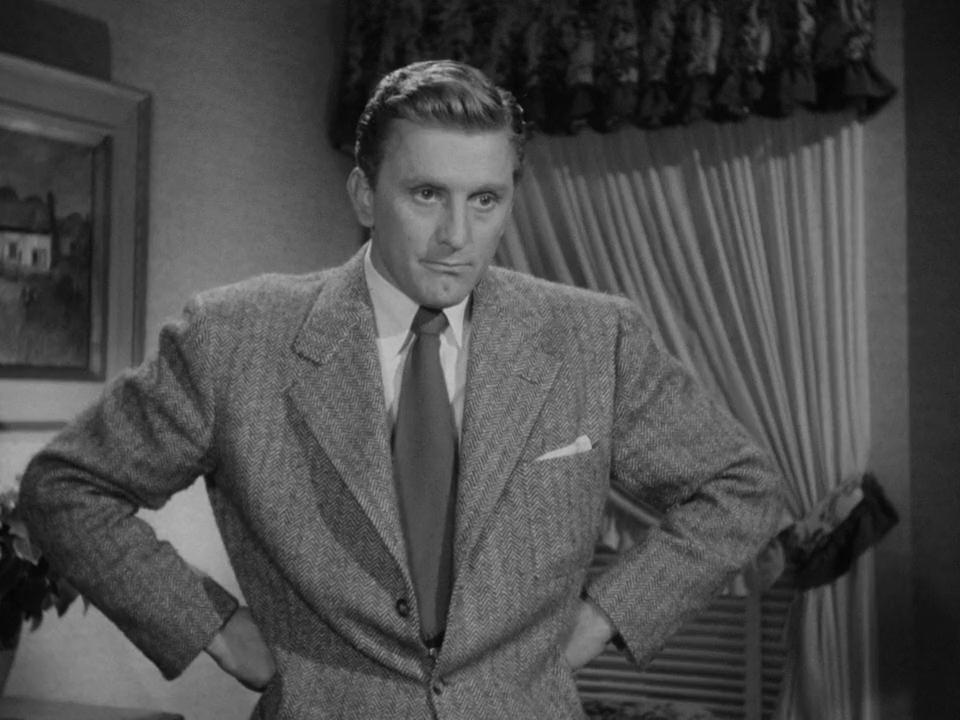 """Kirk Douglas w filmie """"List do trzech żon""""  (1949)"""