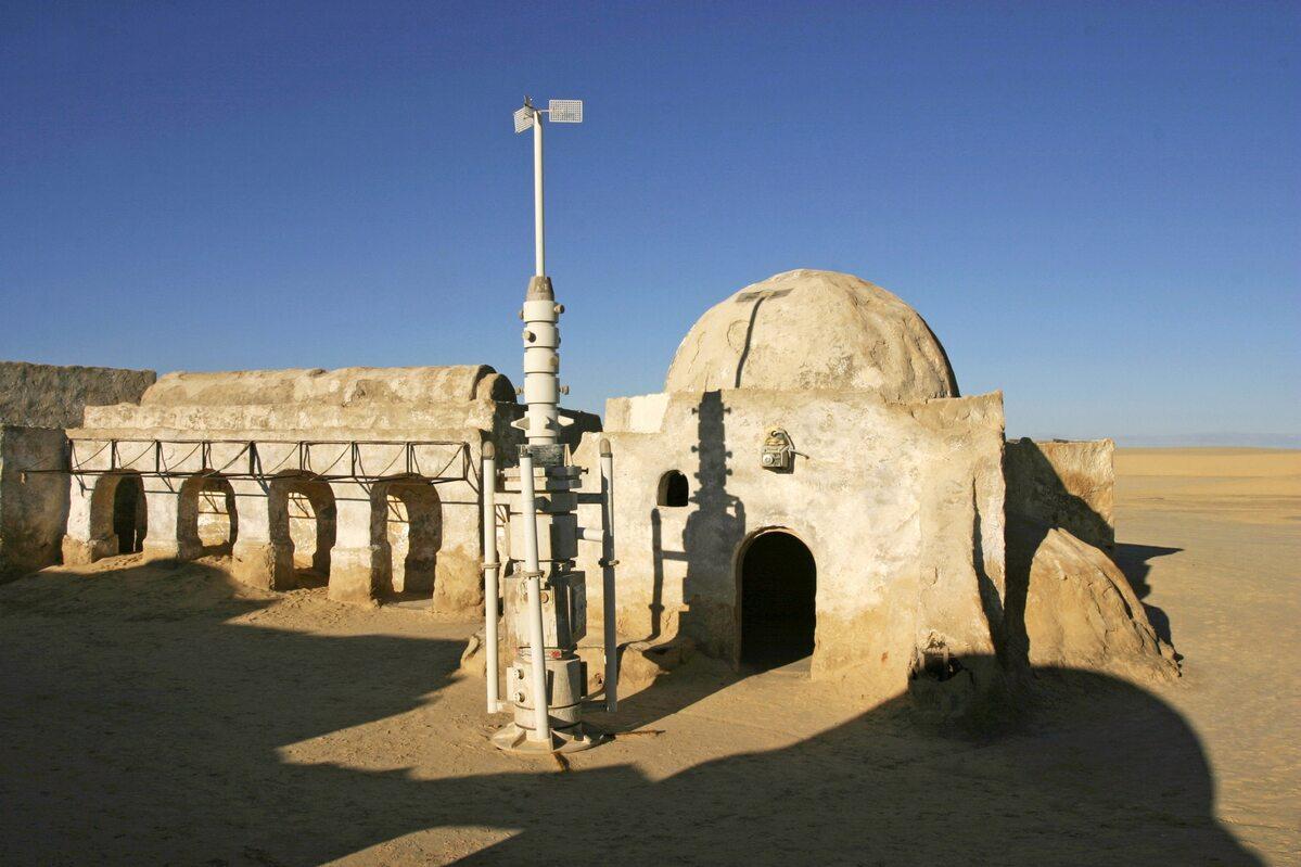 """Tunezja. Wioska imitująca krajobraz na Tatooine, opuszczona po nakręceniu """"Gwiezdnych Wojen"""""""
