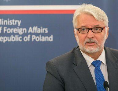 Waszczykowski: Nie chcę grać z Białorusinami. Chcę się z nimi ułożyć