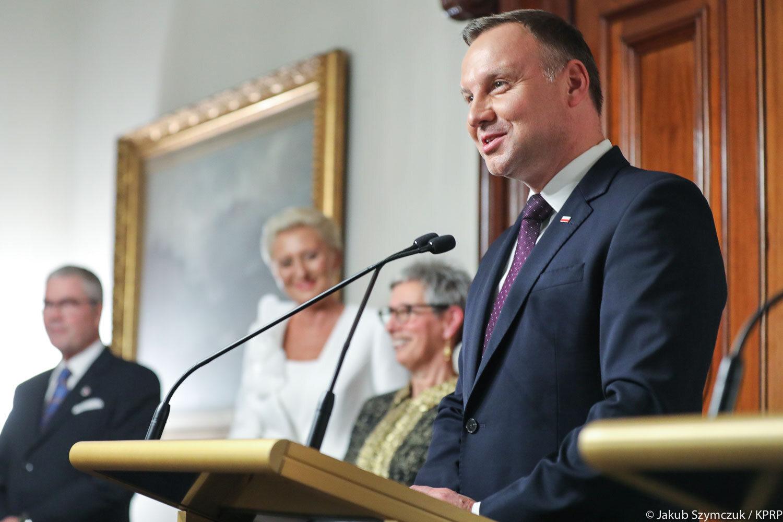 Spotkanie pary prezydenckiej z gubernator stanu Wiktoria i jej małżonkiem
