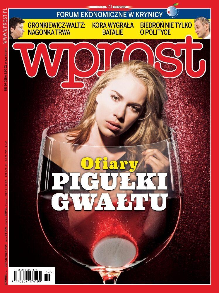 Okładka tygodnika Wprost nr 36/2016 (1752)