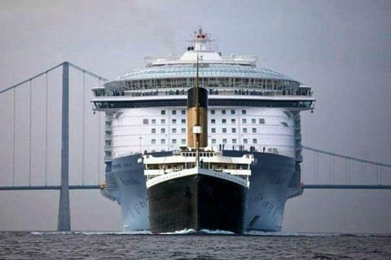 Titanic (mniejszy) kontra współczesne statki wycieczkowe