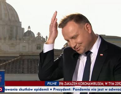 Wywiad z zakłóceniami w TVP. Prezydent nagle rzucił żartem i przeprosił...