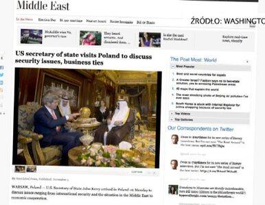 """Wpadka """"Washington Post"""". Artykuł o wizycie Kerry'ego w Polsce, a na..."""