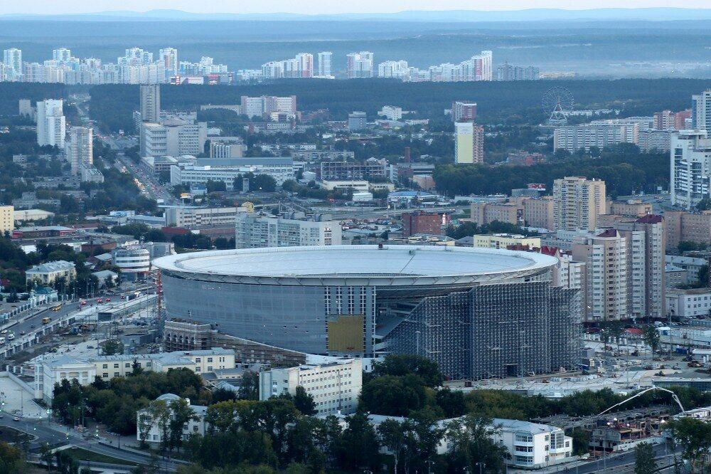 Budowa stadionu w Jekaterynburgu, maj 2017