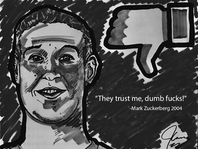 Słynny aktor uderza w założyciela Facebooka. Opublikował odważną karykaturę