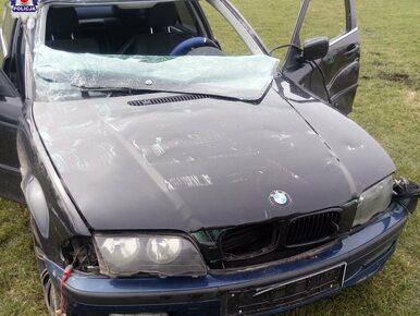 12-latek za kierownicą BMW. Staranował ogrodzenie, wylądował na środku...