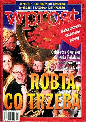 Okładka tygodnika Wprost nr 3/2002 (999)
