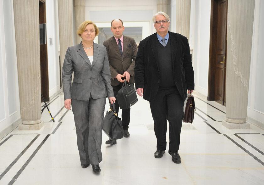 Anna Fotyga, Jan Dziedziczak i Witold Waszczykowski