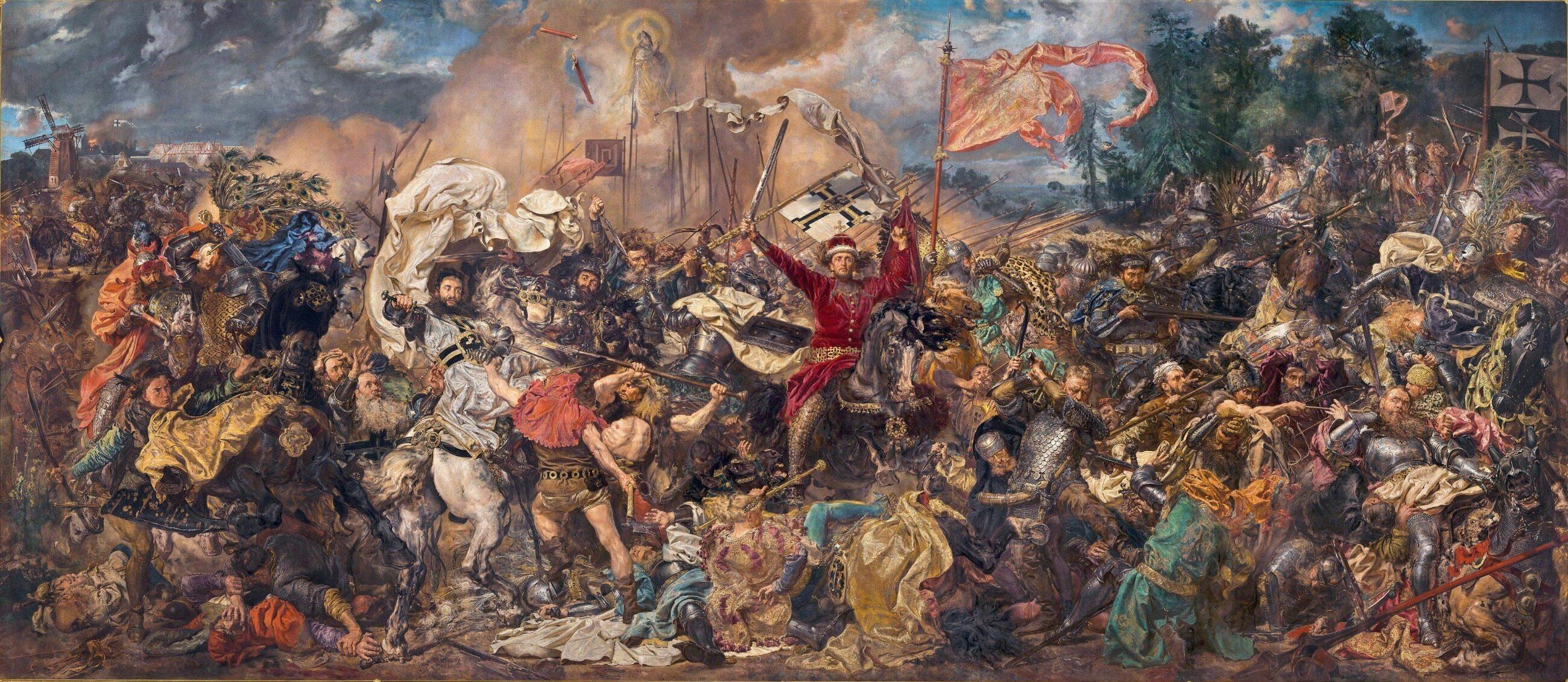 """Czy na najsłynniejszym polskim obrazie Matejki """"Bitwa pod Grunwaldem"""" został uwieczniony król Władysław Jagiełło?"""