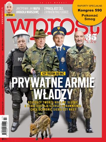 Okładka tygodnika Wprost nr 47/2017 (1812)