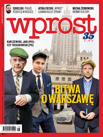 Okładka tygodnika Wprost nr 8/2018 (1824)
