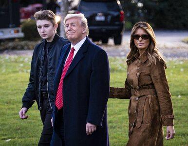 """Syn prezydenta USA miał koronawirusa. Melania Trump pisze o """"osobistych..."""