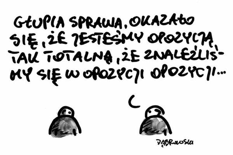 Komentarz rysunkowy po nieudanym głosowaniu opozycji ws. liberalizacji prawa aborcyjnego
